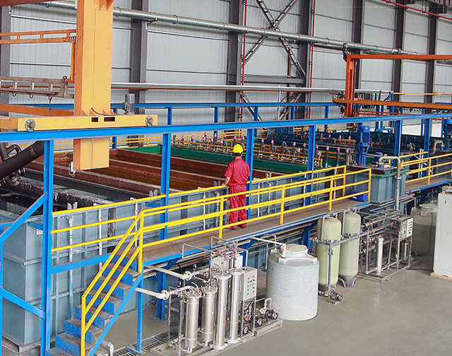 Auto electrophoretic coating line for Plate Heat Exchanger Unit or other pipes