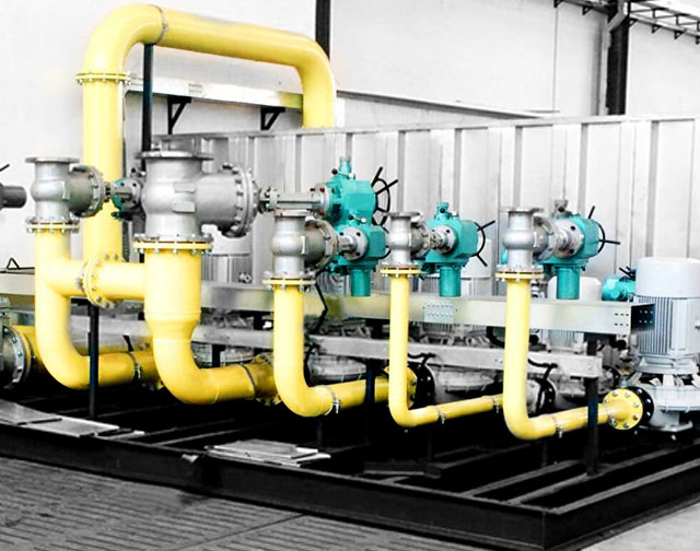Performance testing line for Plate Heat Exchanger Unit and other similar products ensure the reliable products